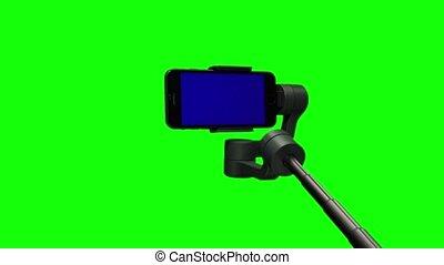 pomoc, ręka, video, steadicam, stabilizer., polowanie,...