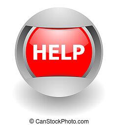pomoc, stal, glosssy, ikona