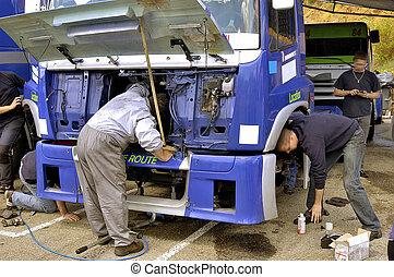 pomoc, wózek, mechaniczny, prąd
