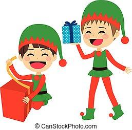 pomocnicy, święty, elfy