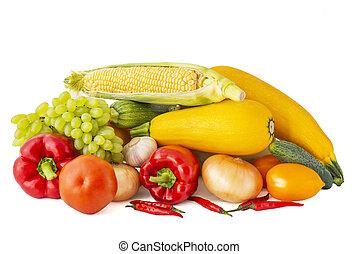 pomodoro, aglio, chili pepa, cipolla, rosso, dorato, bianco, melanzana, cigno maschio, uva, granaglie, rosa, zucchini, fondo, campana