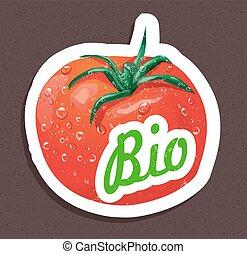 pomodoro, bio, etichetta