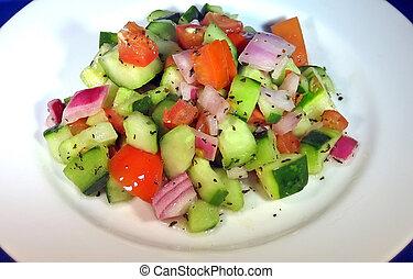 pomodoro, cetriolo, insalata