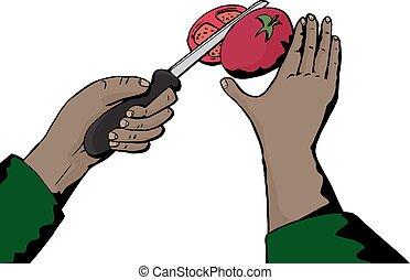 pomodoro, chiudere, soppressione dei bit di peso minore, su