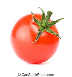 pomodoro, ciliegia, sfondo bianco