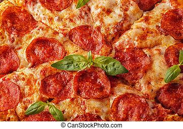 pomodoro, formaggio, pepperoni, salsa, mozzarella, pizza