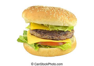 pomodoro, hamburger, hamburger, manzo, formaggio