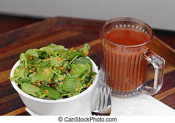 pomodoro, insalata, zenzero, carota, abbigliamento, watercress