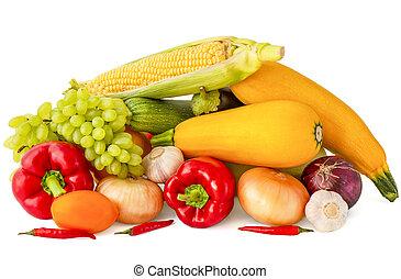pomodoro, melanzana, cipolla, campana oro, rosa, granaglie, uva, cigno maschio, aglio, fondo, peperoni, bianco, peperoncino, rosso, zucchini
