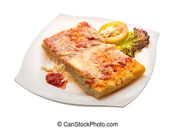 pomodoro, mozarella, salsa, pizza