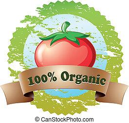 pomodoro, organico, puro, etichetta