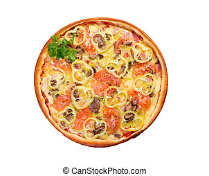 pomodoro, piastra., pizza