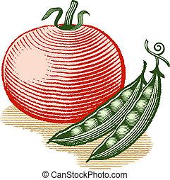 pomodoro, piselli