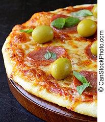 pomodoro, pizza pepperoni, salsa