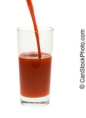 pomodoro, vetro, succo, fresco