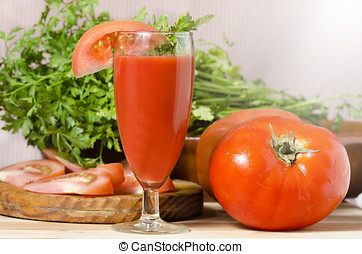 pomodoro, vetro, succo