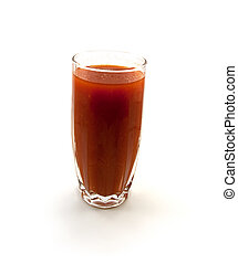 pomodoro, vetro, uno, succo