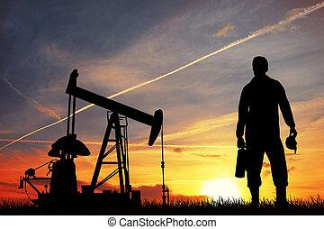 pomp, olie