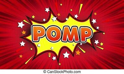 Pomp Text Pop Art Style Comic Expression.
