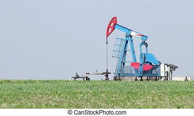 pompa, nafta, lewarek