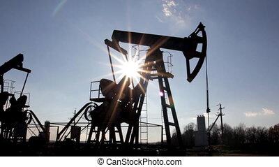 pompa, nafta, pracujący, loopable