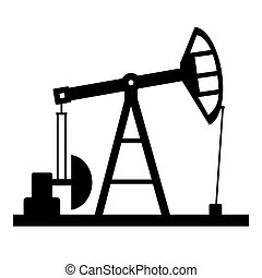 pompa, olio, icon.