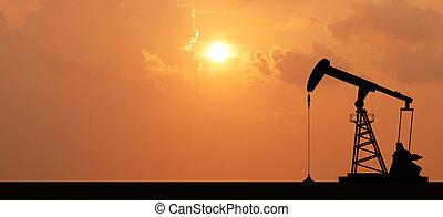 pompa olio, piattaforma petrolifera, energia, industriale,...