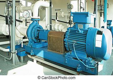 pompa, pompując gaz, condensate.