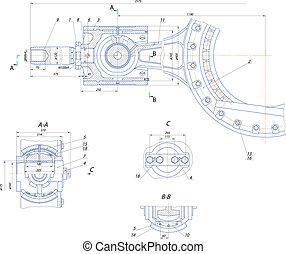 pompe, déplacement, mécanisme, crosshead