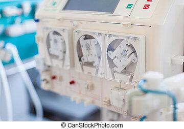 pompe, dialyser
