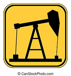 pompe, huile, icon.