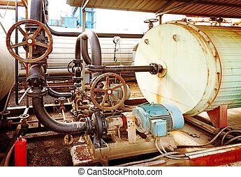pompe, industriel, moteur