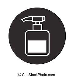 pompe, vecteur, bouteille, icône