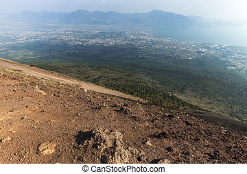Pompei seen from Vesuvius