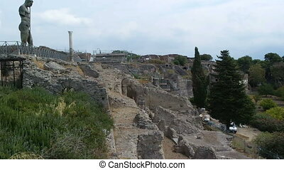 Pompeii, ITALY - SEPTEMBER 5, 2016. Naples Italy Pompeii...