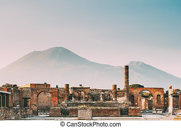 Pompeii, Italy. Temple Of Jupiter Or Capitolium Or Temple Of...