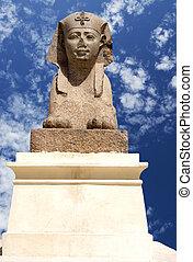 pompey's, スフィンクス, 柱, エジプト, ptolemaic