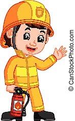 pompier, dessin animé