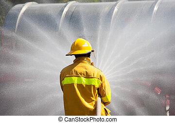 pompier, fonctionnement