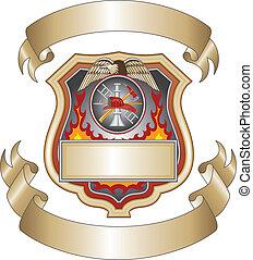 pompier, iii, bouclier