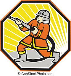 pompier, pompier, dessin animé, japonaise