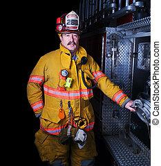 pompier, portrait