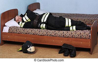 pompier, sommeils