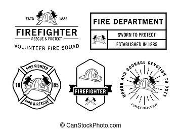 pompiere, distintivo