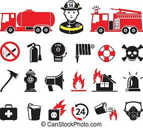 pompiere, icone