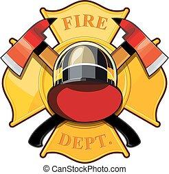 pompiers, écusson