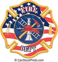 pompiers, croix