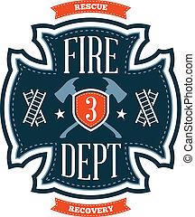 pompiers, emblème