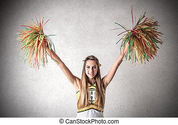 pompoms, cheerleader