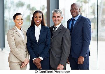 pomyślny, businesspeople, drużyna